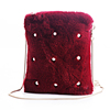 Faux fur new winter fashion dress manufacturer lady hand bag