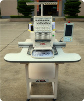 Domestic single head cap computer embroidery machine