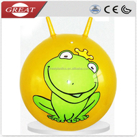 Non phthalate pvc inflatable smiley face ball play jumping ball