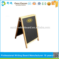 Pin Wood Frame Chalkboard with Stand