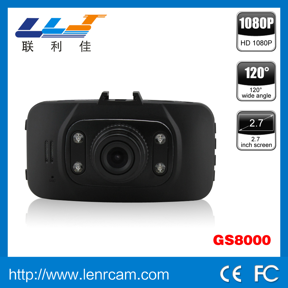 vehicle car dvr car camera GS8000Lmotion detect car dash video camera recorder dvr, car dvr with loop video recording, full hd