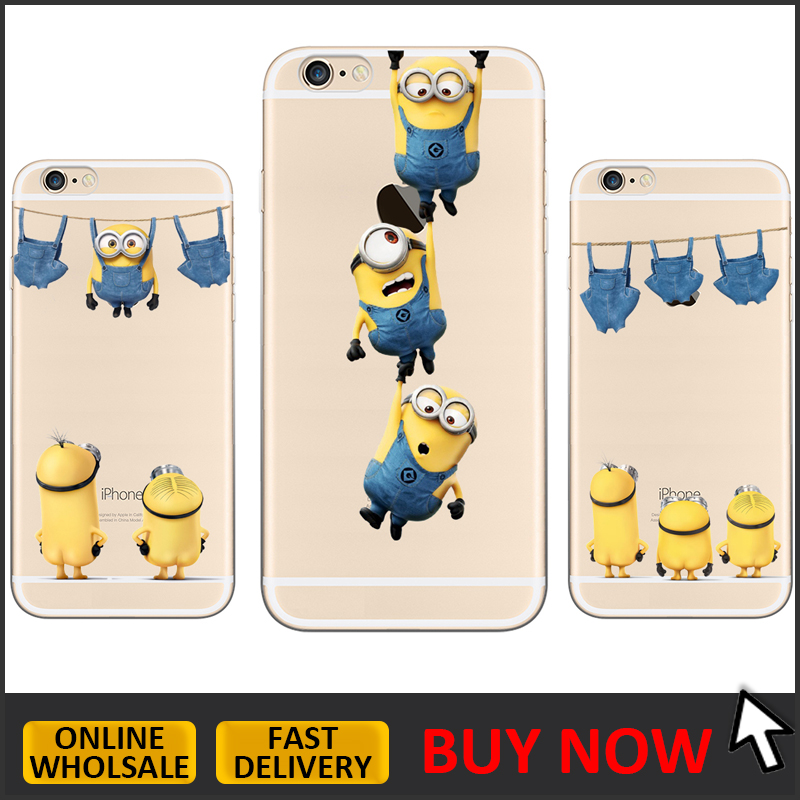 Custom printing cute minions TPU case for iphone 6 6s, minions design phone case