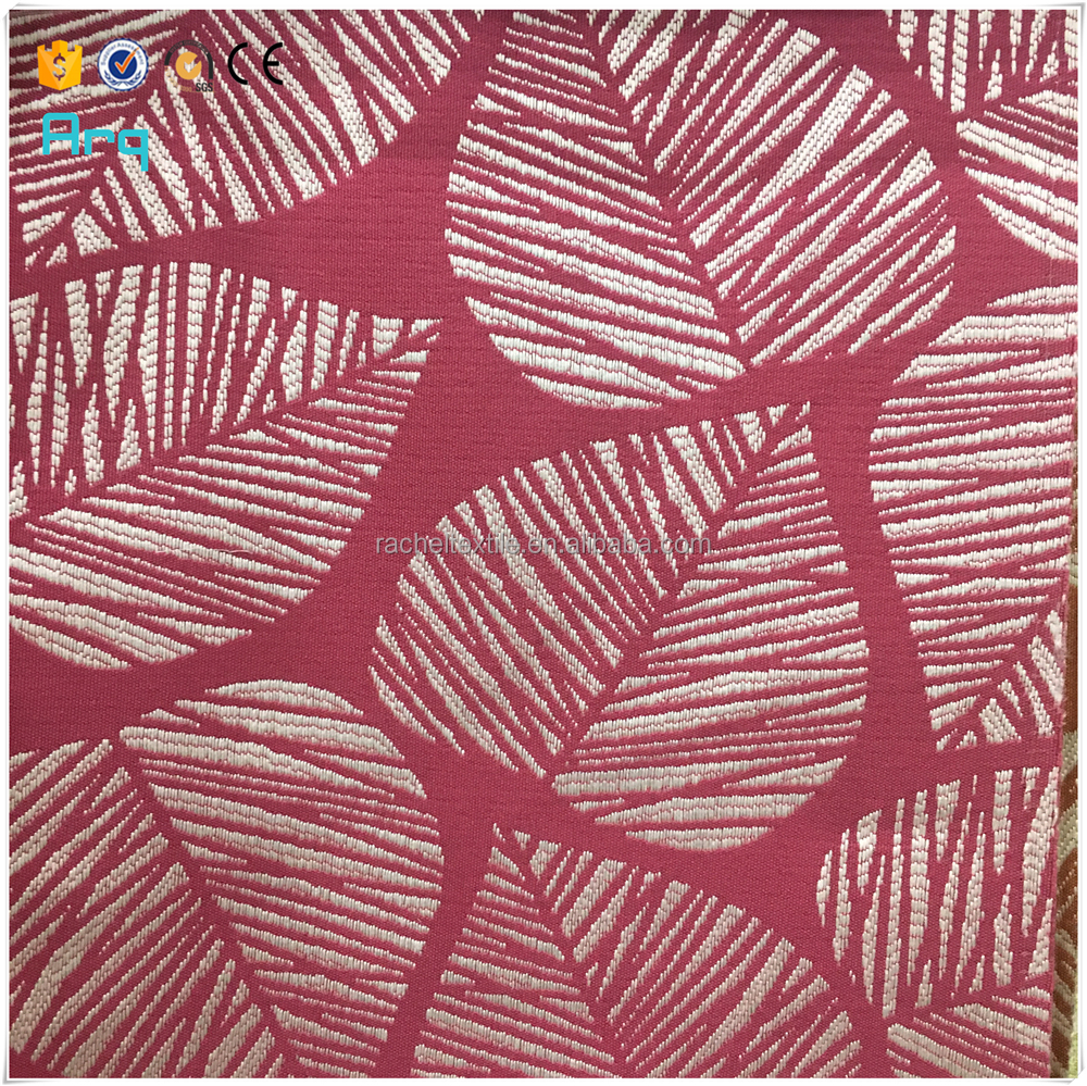 Hot sell hotel home use window leaf design curtain fabric 10 colors