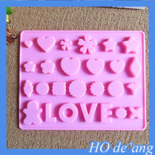 Hogift Funny Silicone LOVE Cake Mould