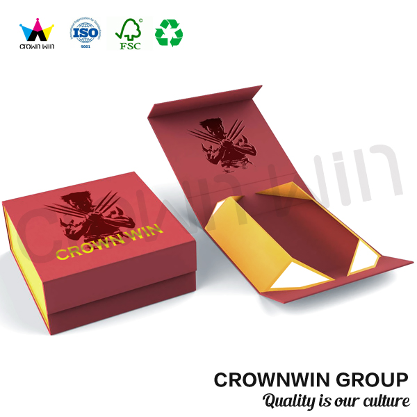 Crownwin small high-end cardboard paper folding gift box packing