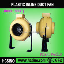 100mm~315mm high pressure large airflow centrifugal inline Plastic circular duct fan