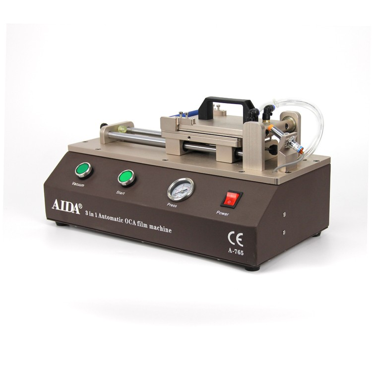 AIDA A765 Automatic Built-in Vacuum Pump LCD OCA Film Laminating Machine OCA Laminator refurbish machine for iphone samsung lcd