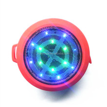 Round LED Water Resistant Bluetooth Speaker Wireless