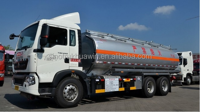 Hot sale China SINOTRUK Howo fuel tank truck capacity 25000 litres with fule dispenser