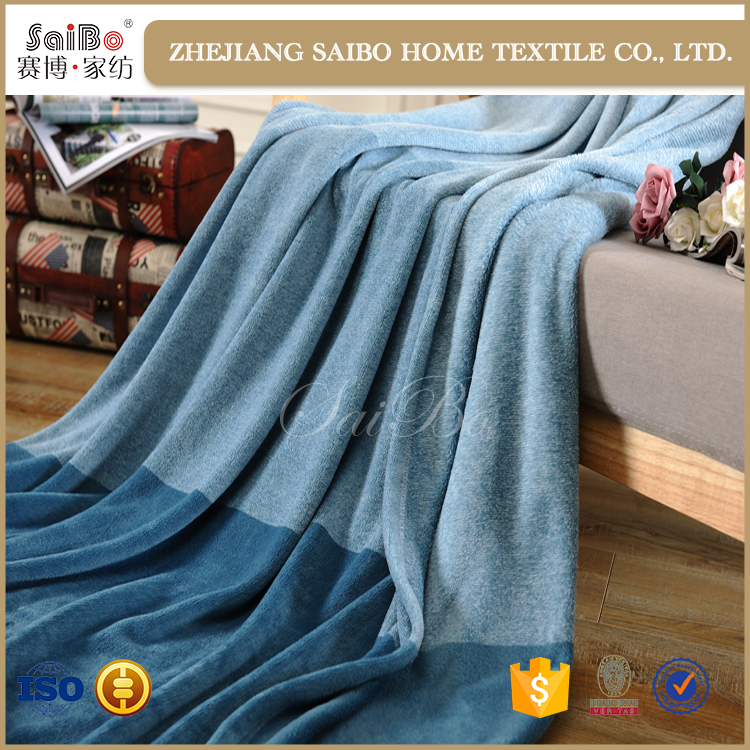 Classic plain dyed multi color micro plush fleece throw blankets