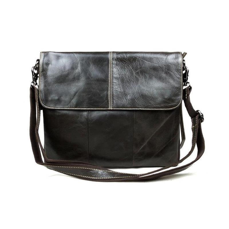 55eea00e56d Get Quotations · Luxury Vintage Designer Brand 100% Top Genuine Oil Wax  Leather Cowhide Men Messenger Shoulder Cross