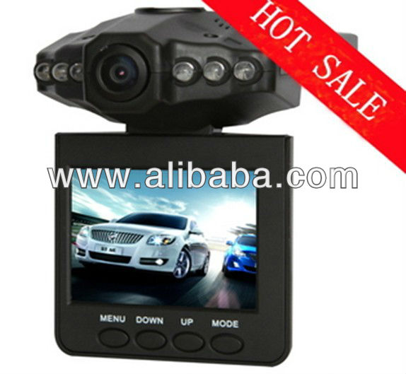 DHL Free shipping H198 Car dvr with 6 IR LED night vision car video recorder 120 degree view angle