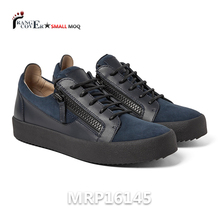 Italy Design Brand Hot Sale Leather Suede Men Casual Shoes Sneakers