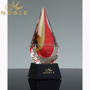 Handmade Custom Art Glass Awards Souvenirs Wholesale Blown Glass Trophy
