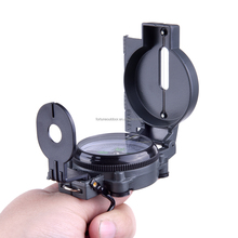 Multifunctional aluminum military compass with lensatic and scale