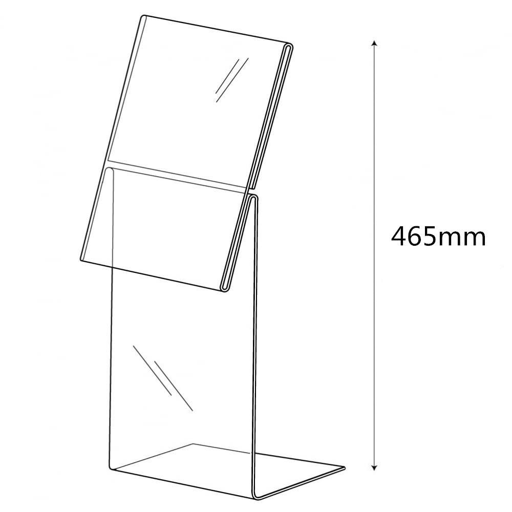 Acrylic sign holder acrylic display stand