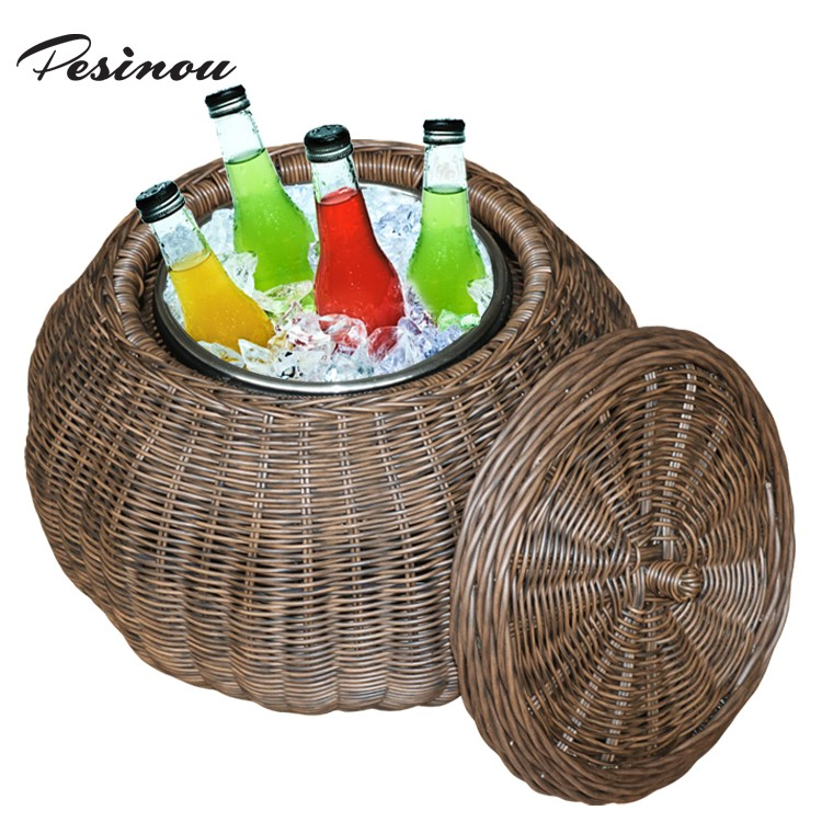 aluminum picnic cooler small wicker wine cooler for promotion