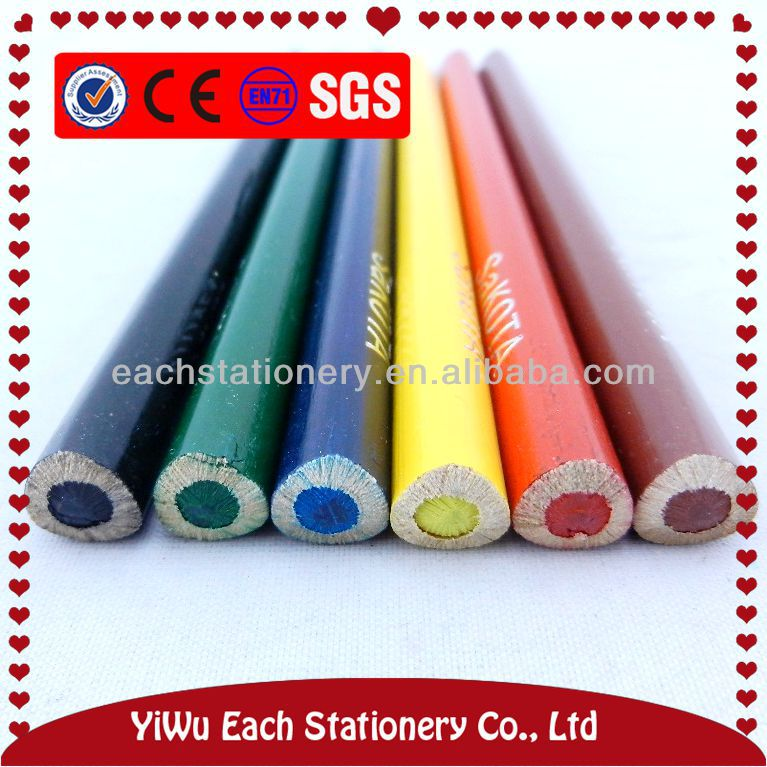 7 Inches gaint jumbo round colour pencils with 5mm lead