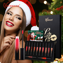 2017 Christmas Lipgloss Niceface 12 Color Lip Gloss For Woman Non-sticky lipgloss