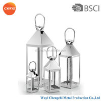 Silver polish stainless steel chinese lantern christmas lights,BSCI approval