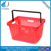 Custom available red shopping basket wire plastic shopping basket