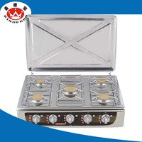 China supplier 5 burners gas stove/gas cooker/gas burner