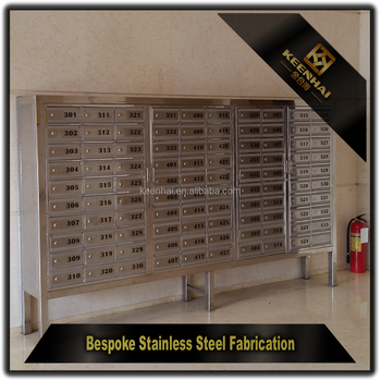 Letter Box Stainless Steel Apartment Building Mailbox, View letter ...