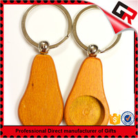 Wholesale cheap wooden keychain with engraving car logo