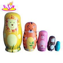 wholesale cheap wooden Russian nesting dolls W06D039
