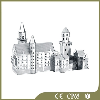 New Swan Stone Castle Hot Puzzle 3d Metal Puzzle 3d Metal works model