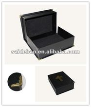Custome Design Classic Black Bible Cosmetic Boxes/Case with Logo SDB-9361