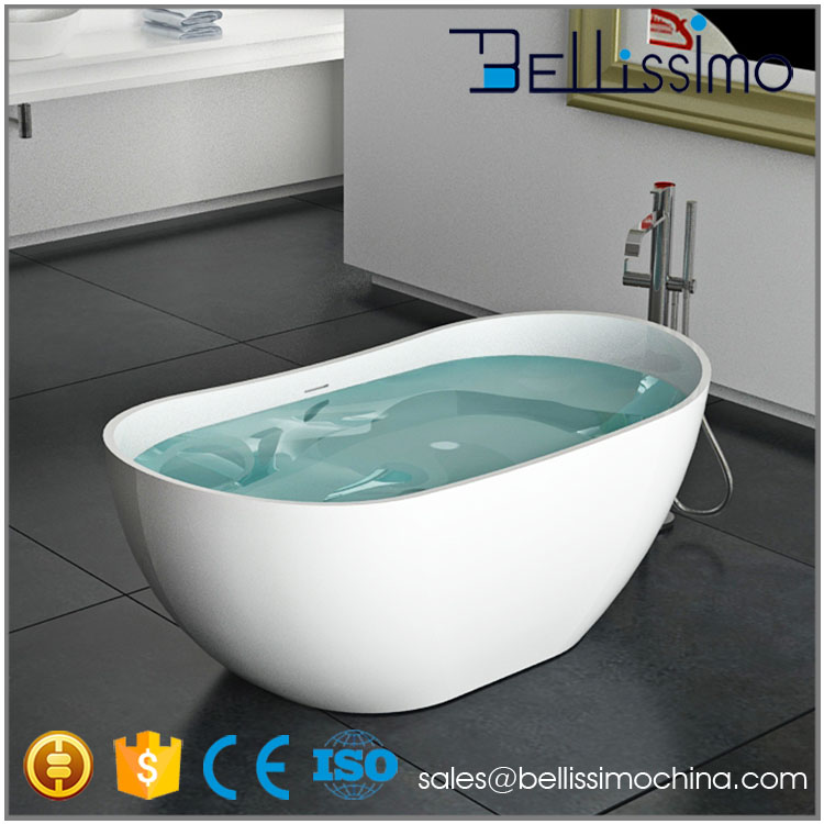 1.8m Foshan solid surface bathtub for fat people BS-8633B