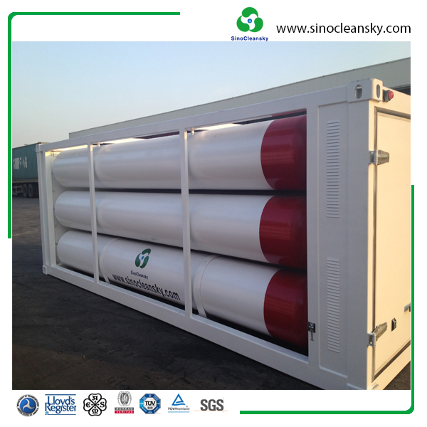 ISO11120 6Tubes CNG Jumbo Cylinder for CNG daughter station