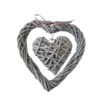 Wicker christmas heart