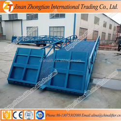 Hydraulic mobile loading ramp cargo delivery platform used for container warehouse