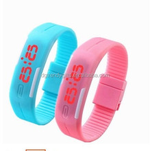 Waterproof South Korea Sport Led Watch Digital Watch In PU Band Mix 15 Colours