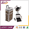 factory promotion beauty professional useful cosmetic trolley aluminum case