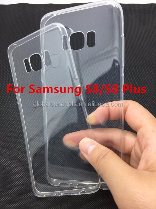 High Quality! 0.6mm Ultra Thin Soft TPU Gel Case Cover For Samsung S8/S8 Plus/A3 A5 A7 2017