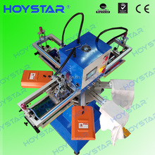 3 color rotary carousel silk screen printing machine Screen Printer for tshirt