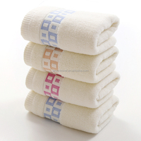 65% cotton 35% bamboo solid color plain weave jacquard face towel price
