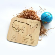 alibaba china wholesale laser cut 3d wooden puzzle of USA map