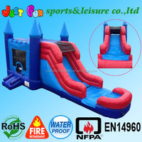 jumping castles inflatable water slide,inflatable castle with slide,inflatable bouncer with slide