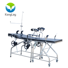 Stainless steel birthing bed labor and delivery in China hospital gynecology table