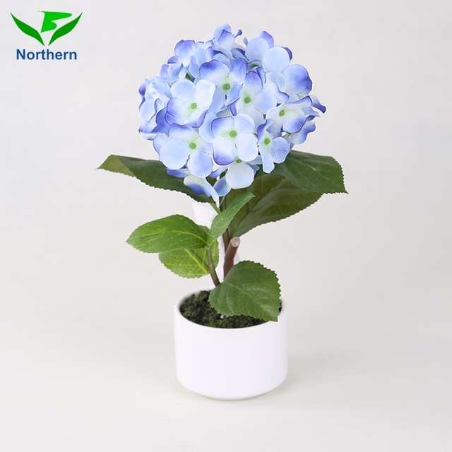 2017 high quality Beautiful Factory Supply hydrangea artificial flower heads