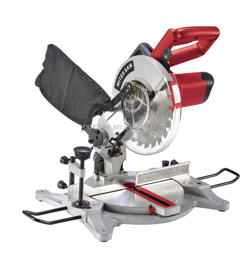 210mm 1500w Aluminum Wood Cutting Power Miter Saw Portable Electric Commercial Table Saw Gw8005a