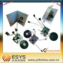 audio chip for greeting card