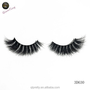 Luxurious 100% Siberian Mink Fur 3D False Eyelashes Private Label Design Natural Messy Volume Fluffy Long Hot Fake Eyelashes