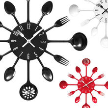 Classic Kitchen Wall Clock with Knife, fork and spoon hands,Kitchen Decoration Wall Clock
