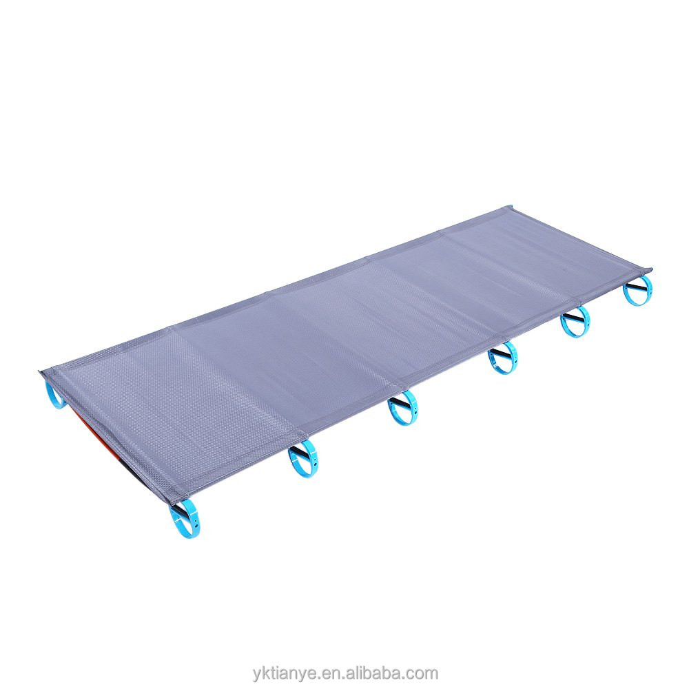 High Quality Ultralight Portable Aluminium Alloy Outdoor Camping Cot Folding Tent Bed Lunch Break Bed size: 180*58*10cm