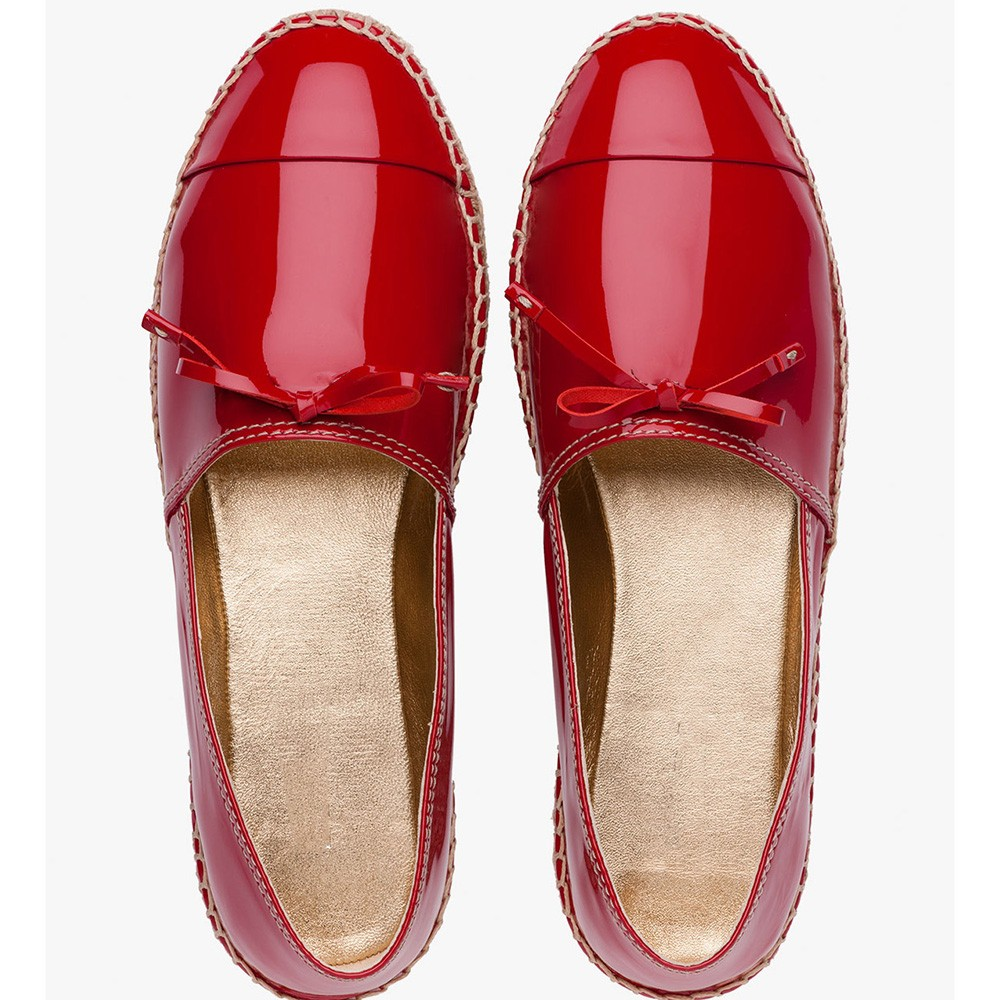 very comfortable women red leather casual shoes